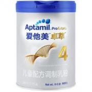 爱他美(Aptamil) 卓萃儿童配方调制乳粉(36—72月龄,4段) 900g294.5元