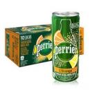 法国原装进口 巴黎水(Perrier)含气天然矿泉水 橘子味罐装气泡水 250ml*30罐99元