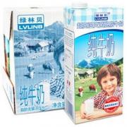 LVLINB 绿林贝 超高温灭菌 脱脂纯牛奶 1L 6盒 *5件