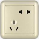 ABB 德静系列 金色 开关插座面板 五孔10只装 69.3元包邮(双重优惠)¥69