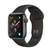 Apple Watch Series4 智能手表(GPS+蜂窝网络款 40毫米深空灰色铝金属表壳 黑色运动型表带)
