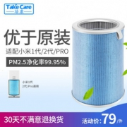 Take Care 培康 通用升级版除甲醛抗菌滤芯滤网 适配小米空气净化器 7.5折 ¥59¥59