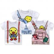 口袋虎 婴幼儿纯棉T恤 2件13.9元包邮(合6.95元/件)