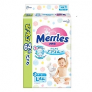 19日6点:Merries妙而舒婴儿纸尿裤L64片*4件+凑单品300元包邮(合75元/件)