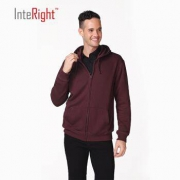 InteRight 男士净色毛圈开衫卫衣*2件85.5元包邮(合42.75元/件)