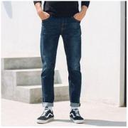 Meters bonwe 美特斯邦威 602072 男士直筒牛仔裤