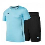 安踏 男士足球服短袖套装