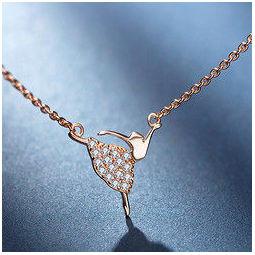 MY FASHION DESIGN 芭蕾舞女孩 MYN1821 S925银镶锆石项链