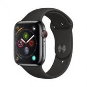 Apple Watch Series 4智能手表(GPS+蜂窝款 44毫米深空黑色不锈钢表壳 黑色运动型表带 MTX22CH/A)
