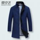 反季特卖 雪中飞 男士羊毛混纺 中长款呢子风衣139元包邮