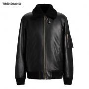 TRENDIANO 3GE4312340 男装冬装宽松休闲毛领真皮皮衣外套 *4件13196元(合3299元/