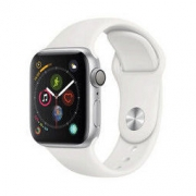Apple 苹果 Watch Series 4 智能手表(银色铝金属、GPS、40mm、白色运动表带)