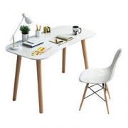 TIMI 天米 北欧简约学习桌椅 电脑桌(书桌+白色椅子)