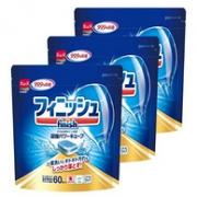 99.9%除菌、日版:60块x3袋x3件  Finish 亮碟 洗碗机专用洗涤块