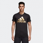 双11预售:adidas 阿迪达斯 CV4507 运动型格 男士T恤 69元包邮(20元定金)