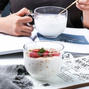 【乐章】无铅大号玻璃牛奶早餐杯