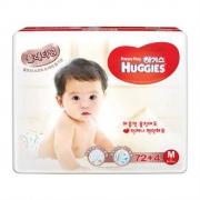 HUGGIES 好奇 婴儿纸尿裤 铂金装 M72+4片 中号 6-11kg