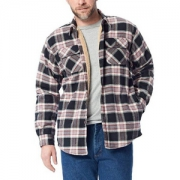 Wrangler 牧马人 authentics 男士长袖羊绒衬里法兰绒衬衫