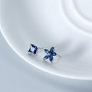alivinee 阿莉维妮 s925银蓝钻方形五瓣花不对称耳钉(配银耳塞)39元包邮(需用券)