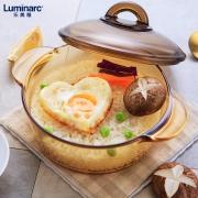 Luminarc 乐美雅 微晶玻璃 琥珀锅 1.5L 109元包邮(需用券)