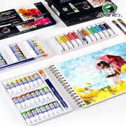 Marie's 马利 水粉画颜料 5ml*12色 送绘画10件套 12.7元包邮