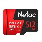 Netac朗科 至尊 PROmicroSDXCA1UHS-IU3 TF存储卡 512GB