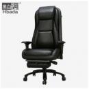 Hbada 黑白调 HDNY002BP 头层牛皮带按摩电脑椅2998元