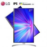 29日0点:LG27UL65027英寸显示器(4K、HDR400、sRGB99%、FreeSync)