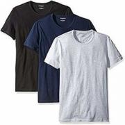 中亚Prime会员:EMPORIO ARMANI 男士棉质圆领T恤 3件装