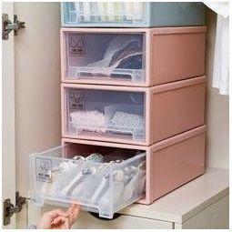 BELO 百露 抽屉收纳盒 粉色 三件套 *3件