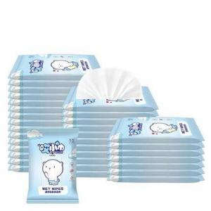 PLUS会员:万力睿 婴幼儿无纺布湿巾 10片*4包 *6件