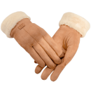 雾敦堡 加绒加厚 女麂皮绒保暖手套 可触屏29元包邮平常49元