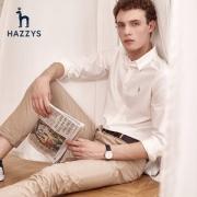 LG时装旗下中高端品牌 Hazzys 哈吉斯 男纯棉牛津纺衬衫