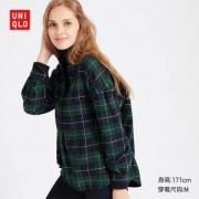 UNIQLO 优衣库 421612 女士法兰绒格子衬衫