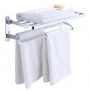 WANGEL温洁尔 卫生间浴巾架免打孔浴室挂毛巾杆免钉厕所双层置物架壁挂97元