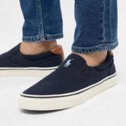Polo Ralph Lauren 拉尔夫•劳伦 Thompson 男款套脚休闲帆布鞋