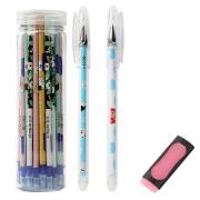 智美雅 可擦中性笔芯 30支 送中性笔2支+橡皮 7.78元包邮(需用券)¥8