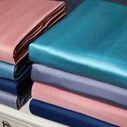 60支长绒棉,丝绸质感:水星家纺 环游世界 长绒棉贡缎抗菌被套150×210cm