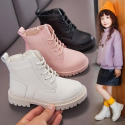 女童马丁靴冬季新款加绒短靴29.9元包邮