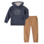 Calvin Klein 卡尔文·克莱恩 男童套头连帽卫衣裤子2件套