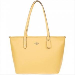 COACH 蔻驰 奢侈品 女士单肩手提包 柠檬黄色 F58846SVOGO