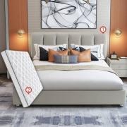 SLEEMON 喜临门 天琴湾 头层牛皮软床+星空R床垫 1.8*2m+乳胶枕一对新低3999元包邮(需领券)