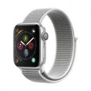 22点开始: Apple 苹果 Apple Watch Series 4 智能手表 (银色铝金属、GPS、40mm、海贝色回环表带)