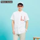 Meters bonwe 美特斯邦威 225225 男士短袖衬衫 *2件27.95元(2件2.5折,合14元/件)