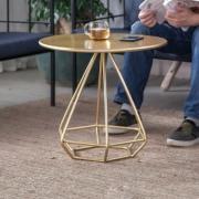 艾依乐 17010136 茶几小圆桌 金色 50*50cm