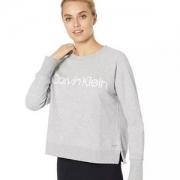Calvin Klein 卡尔文·克莱恩 Performance 女士圆领抓绒卫衣
