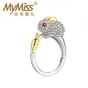 Mymiss 十二生肖 食指开口 女925银镀铂金戒指328元包邮
