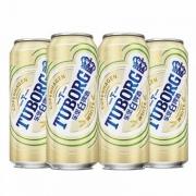 PLUS会员、有劵的上: Tuborg 乐堡 啤酒 白啤酒 500ml*12听 *2件99元包邮(合49.5元/件)