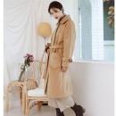 韩都衣舍 DL11286 女士中长款毛呢大衣低至166.5元