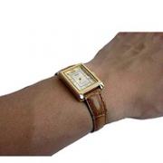 CASIO卡西欧 LTP-1234PGL-7A 女士皮革石英手表